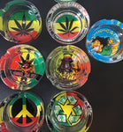 Smoke and Fly Rasta and Jamaican Design Glass Ashtray yoga, yoga smokes, tattoo, face, nails, nail, glass retail, online, web, weborder, website, tanks, lounge, odor, smoke shop near me, liquid smoke, smoke shop, lounge, smoke lounge, stoner, smoke, high, life, highlife, dabber, love, stoned, highsociety.