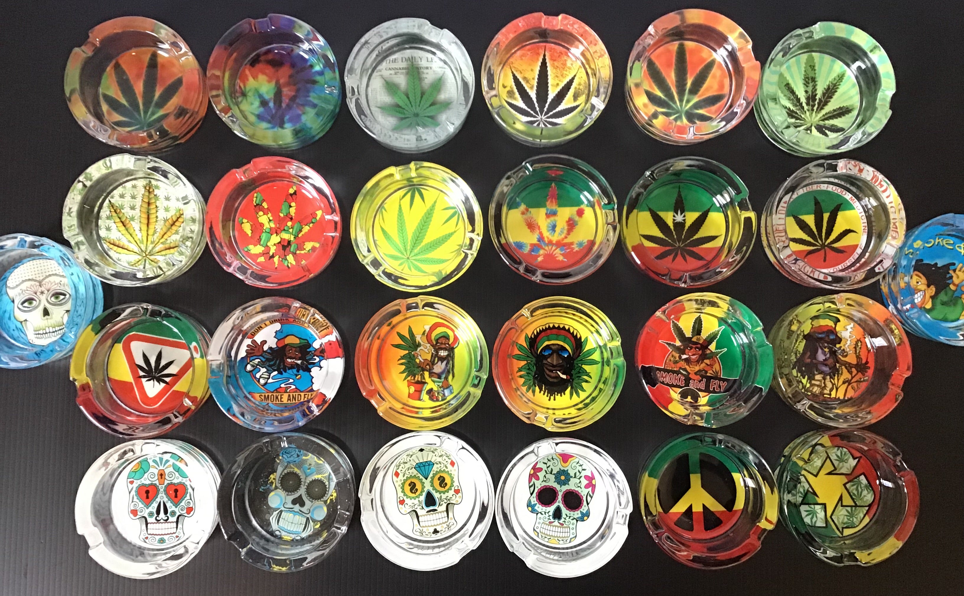 Highest Quality Canna Leaf Design Durable Glass Ashtray yoga, yoga smokes, tattoo, face, nails, nail, glass retail, online, web, weborder, website, tanks, lounge, odor, smoke shop near me, liquid smoke, smoke shop, lounge, smoke lounge, stoner, smoke, high, life, highlife, dabber, love, stoned, highsociety.