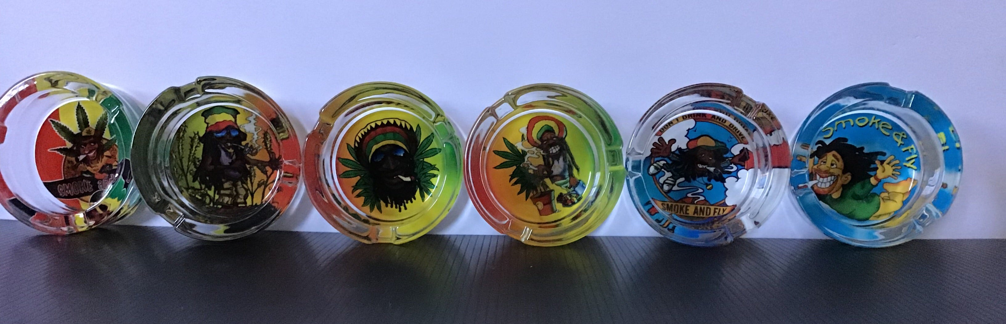 Happy Smoking Rasta and Jamaican Design Glass Ashtray yoga, yoga smokes, tattoo, face, nails, nail, glass retail, online, web, weborder, website, tanks, lounge, odor, smoke shop near me, liquid smoke, smoke shop, lounge, smoke lounge, stoner, smoke, high, life, highlife, dabber, love, stoned, highsociety.