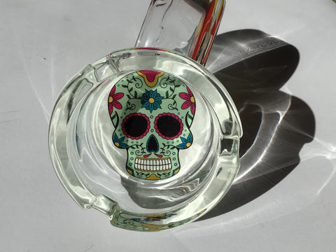 Skull Design Glass Ashtray Floral yoga, yoga smokes, tattoo, face, nails, nail, glass retail, online, web, weborder, website, tanks, lounge, odor, smoke shop near me, liquid smoke, smoke shop, lounge, smoke lounge, stoner, smoke, high, life, highlife, dabber, love, stoned, highsociety.