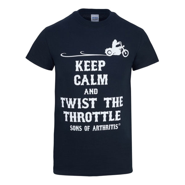 Keep Calm and Twist the Throttle 100% Cotton Biker T-Shirt- CLEARANCE
