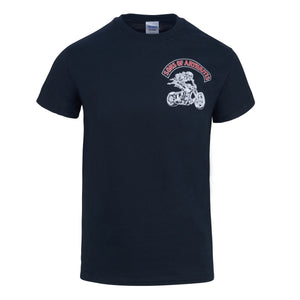 Sons of Arthritis Piss & Moan Chapter Short Sleeve Biker T-shirt