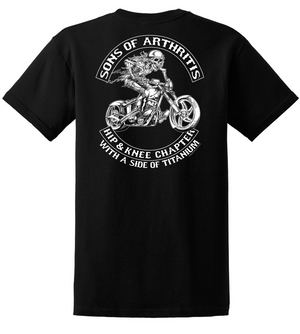 Sons of Arthritis HIP & KNEE CHAPTER  Short Sleeve Tee (Black)