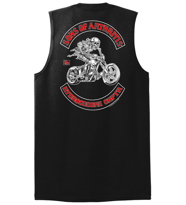 Hydrocodone Chapter Sleeveless Biker T-Shirt