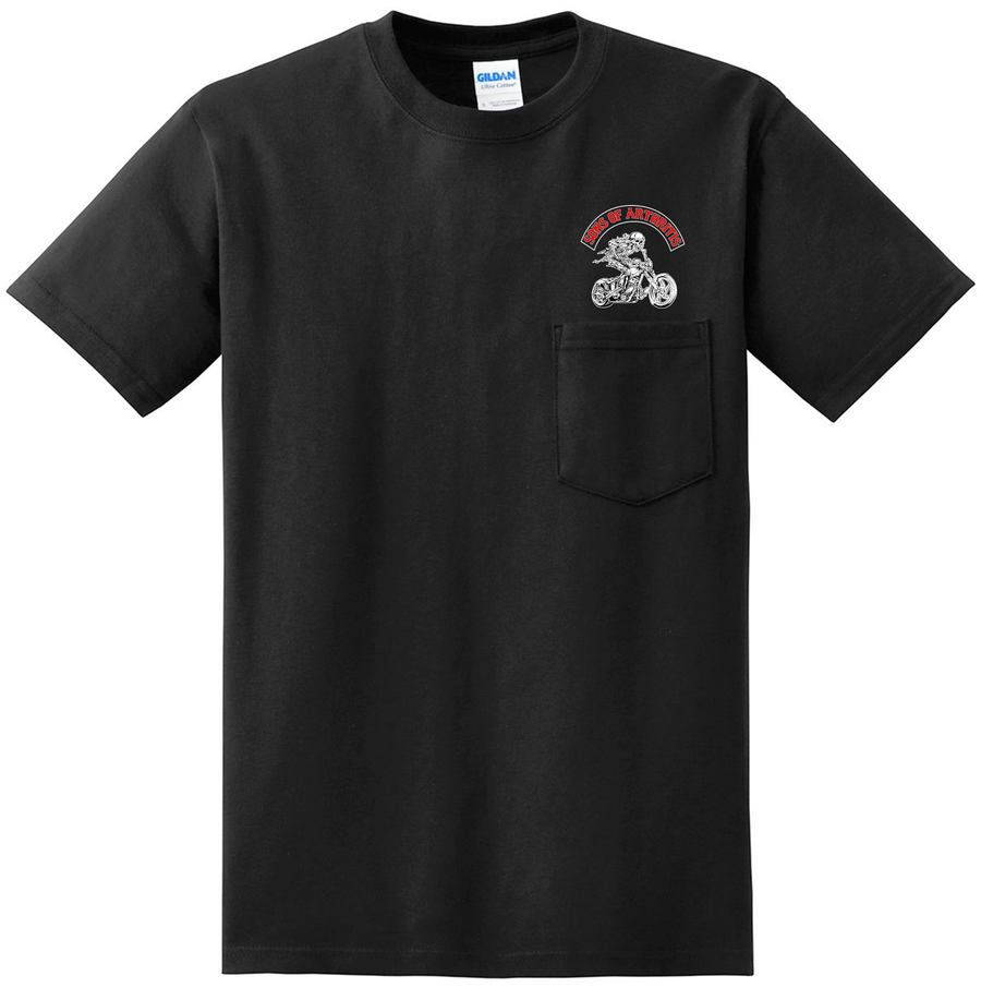 Sons of Arthritis CHRONIC PAIN WARRIOR Pocket Tee (Black)