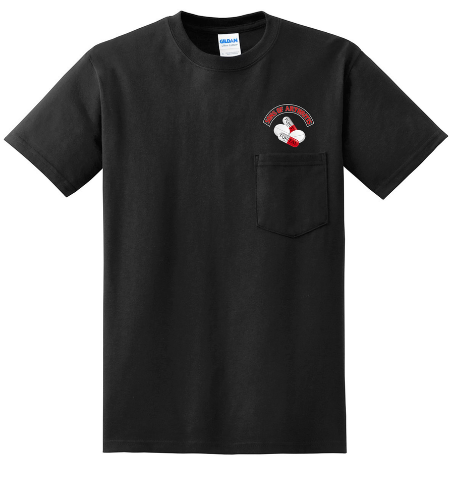 Sons of Arthritis FUKITAL CHAPTER Pocket Biker T-shirt?