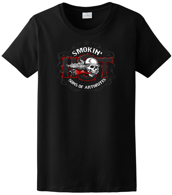 "Sons of Arthritis ""SMOKIN HOT"" WOMENS Tee"