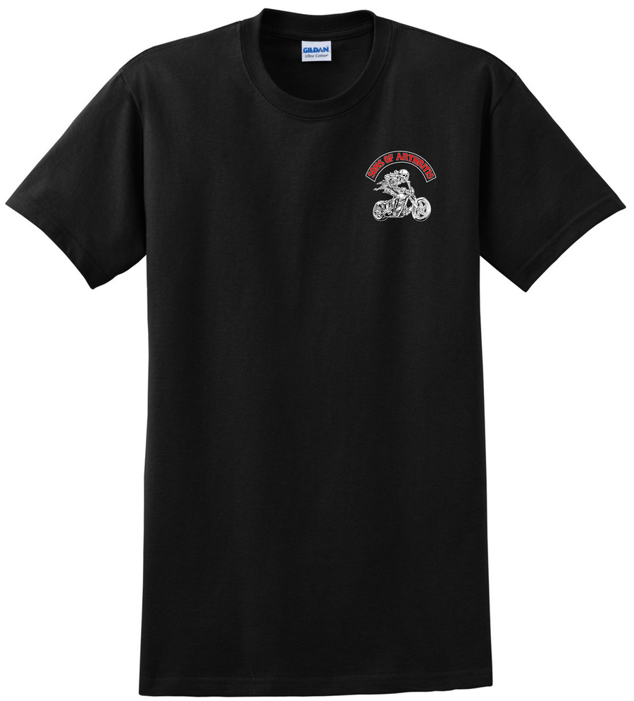 Sons of Arthritis Ruptured Disc Chapter Tee (Black)