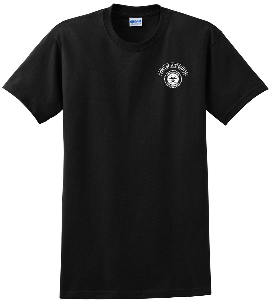 Limited Edition QUARANTINE CHAPTER TELL THE COP Short Sleeve 100% Cotton Biker T-shirt?