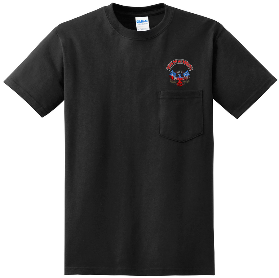 Sons of Arthritis INDEPENDENCE CHAPTER Pocket Tee (Black)