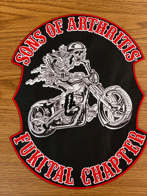 "Sons of Arthritis FUKITAL Patch 10"" X 13"""