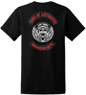Limited Edition CAN'T RIDE QUARANTINE CHAPTER  Biker T-shirt?