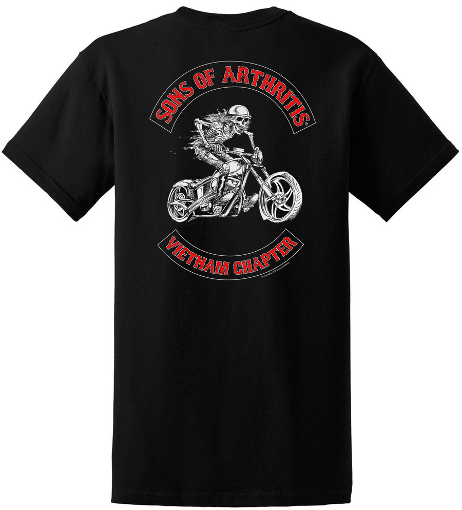 Sons of Arthritis VIETNAM SOUTHERN FLAG EDITION CHAPTER Biker T-shirt?
