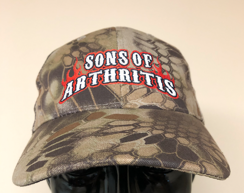 Sons of Arthritis Logo Kryptek Highlander™ tactical camo POWERCAP LED Lighted Hats