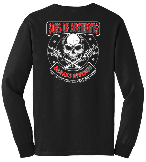 Sons of Arthritis Badass Division Pocket Long Sleeve T-Shirt