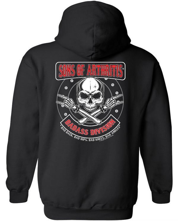 Sons of Arthritis Badass Division PULLOVER Hoodie