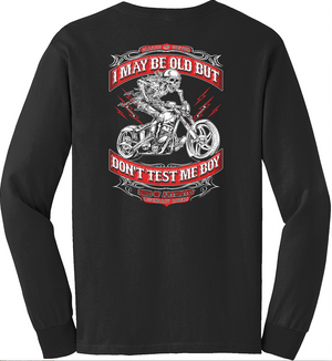 Sons of Arthritis Don't Test Me Boy Long Sleeve T-Shirt