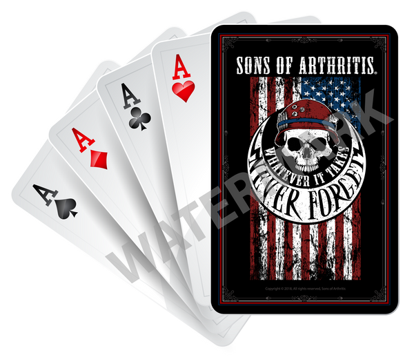 SONS OF ARTHRITIS NEVER FORGET LIMITED EDITION PLAYING CARDS