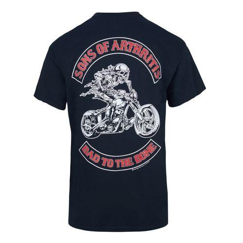 Sons of Arthritis Bad to the Bone Chapter Biker T-Shirt
