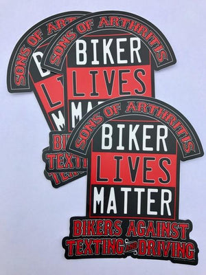 "Biker Lives Matter  5"" x 6"" Sticker"