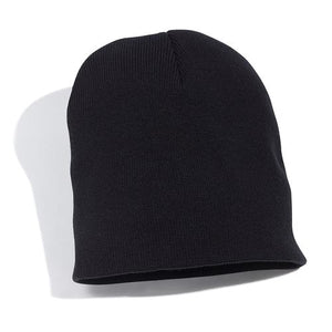 Black Embroidered Beanie