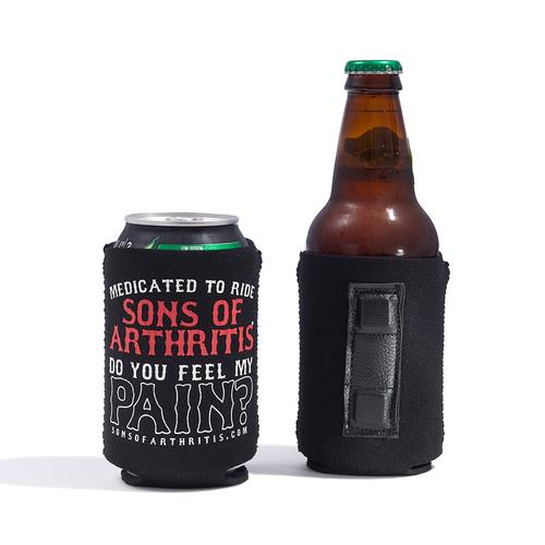 """Do You Feel My Pain"" Magnetic Biker Koozie"