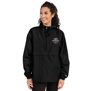 "Sons of Arthritis KEEP ON RIDIN"" Embroidered Champion Packable Wind & Rain Jacket"