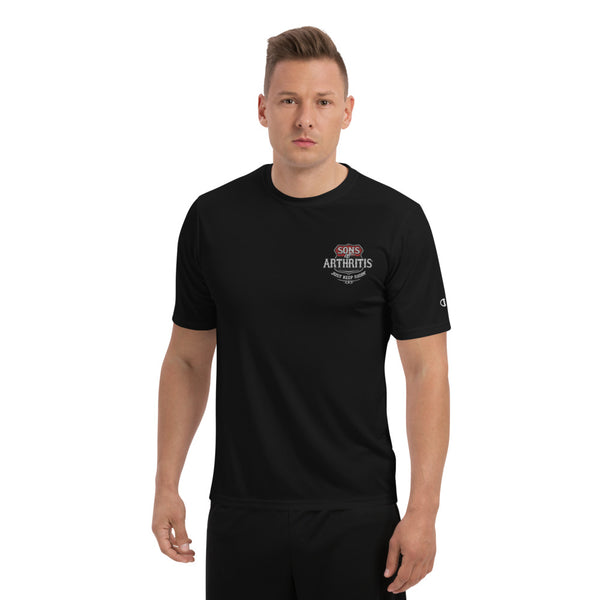 "Sons of Arthritis ""Just Keep Ridin"" Embroidered Champion Performance T-Shirt"