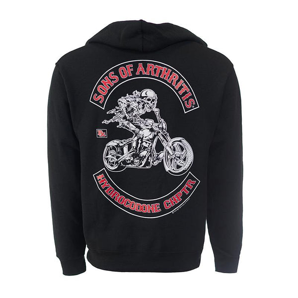 Hydrocodone Chapter ZIPPERED Hoodie