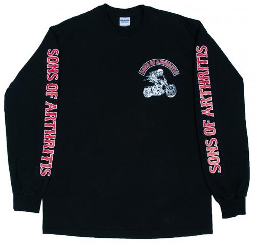 Sons of Arthritis Hydrocodone Chapter Long Sleeve Biker T-Shirt