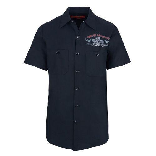 """Ibuprofen Chapter"" Biker work shirt"
