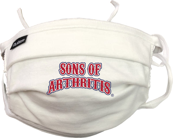 """SONS OF ARTHRITIS"" Washable Double Layer Adjustable Cotton Facemask"