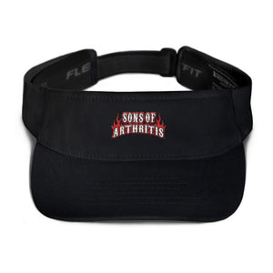 Sons of Arthritis Flame Logo Visor