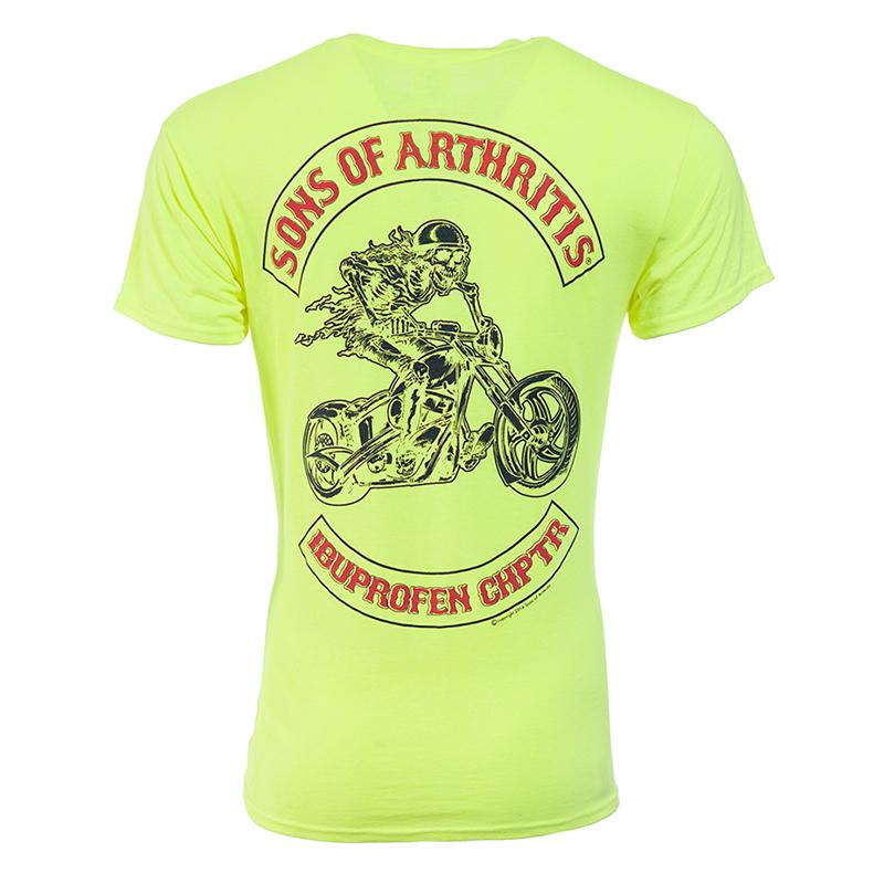 Safety Green Ibuprofen Chapter Short Sleeve Biker T-Shirt