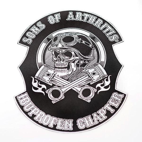 "Skull and Pistons Ibuprofen Chapter 10"" X 13"" Back Patch"
