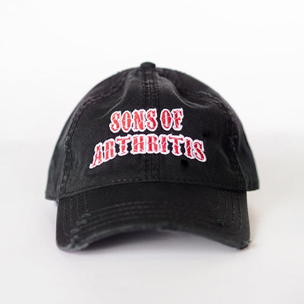 Sons of Arthritis Distressed Black Cap