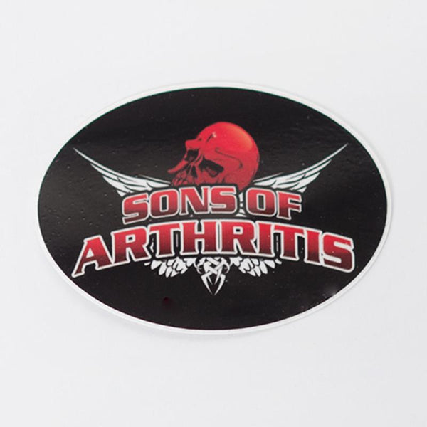 Sons of Arthritis Helmet Sticker