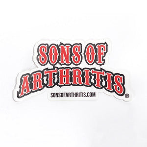 "Sons of Arthritis Sticker 5"" x 2.5"""