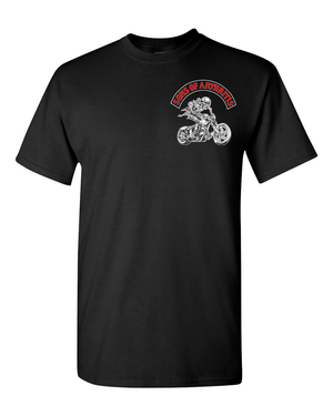 Sons of Arthritis Screw COVID Let's Ride  T-Shirt