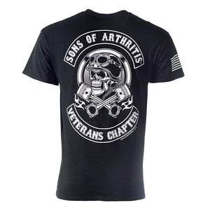 Sons of Arthritis Veterans Helmet Head Biker T-Shirt