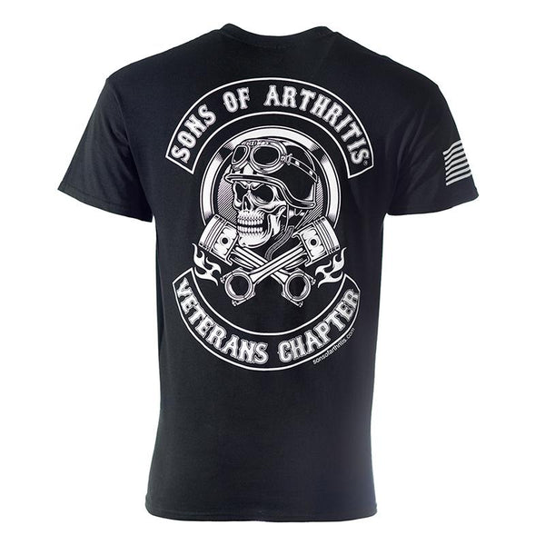 Veterans Helmet Head Biker T-Shirt