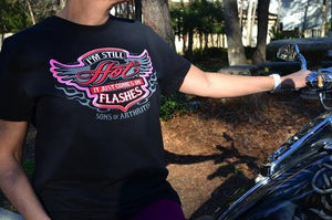 Sons of Arthritis Womens Still Hot Biker Tee