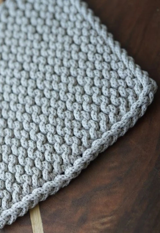 Hand-Knitted Hot Pad