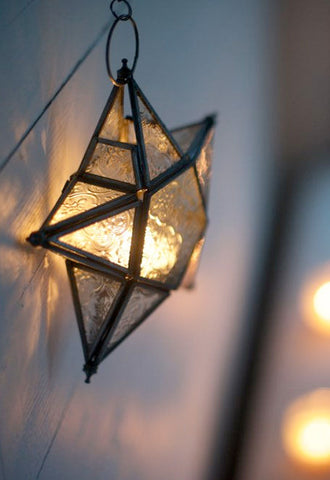 Hanging Star Glass Lantern