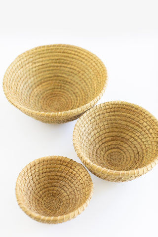 Round Nesting Baskets - Set of 3