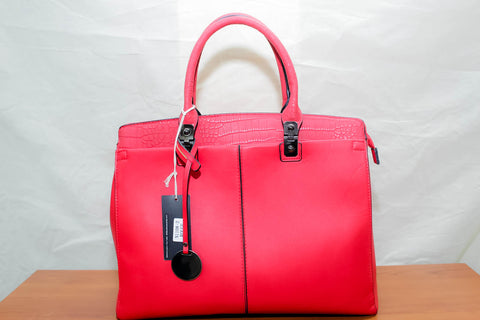 Sac à main BE EXCLUSIVE peau rouge