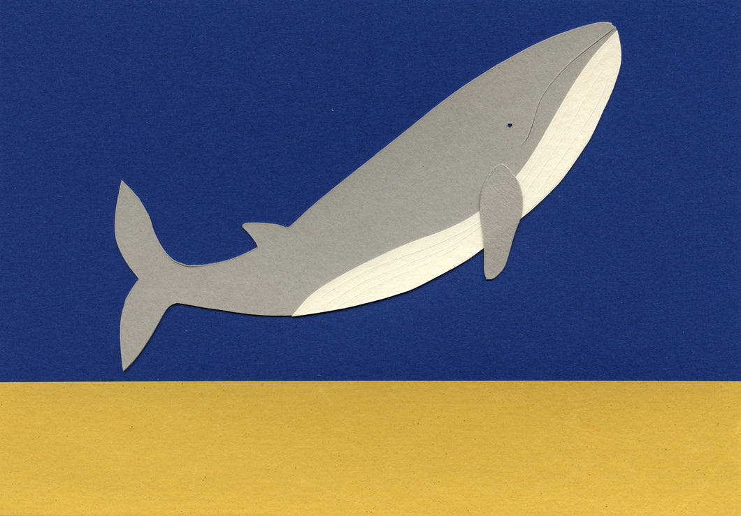 Handmade Paper Cut Out – Paper Whale #1