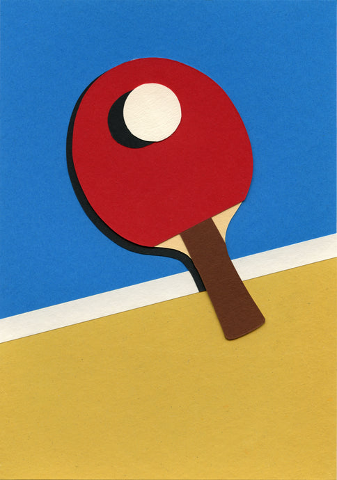 Handmade Paper Cut Out – Ping Pong Paper #1