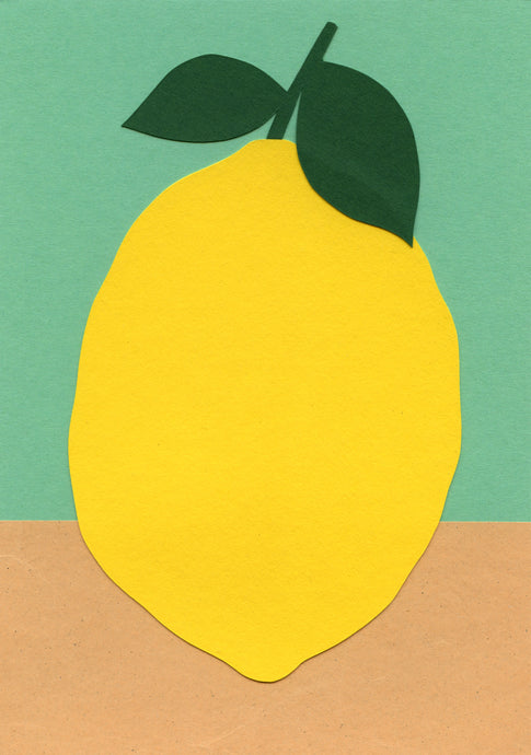 Handmade Paper Cut Out – Paper Lemon #2
