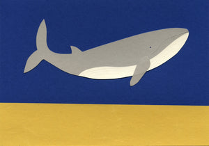Handmade Paper Cut Out – Paper Whale #2